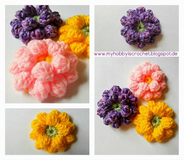 Dahlia Flower- Free Crochet Pattern with Video Tutorial
