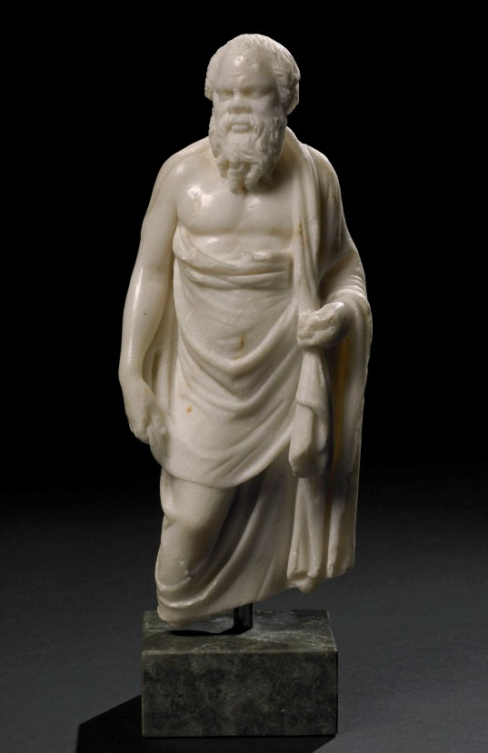 Marble statuette of Socrates. A Hellenistic original of the 2nd century BC.
