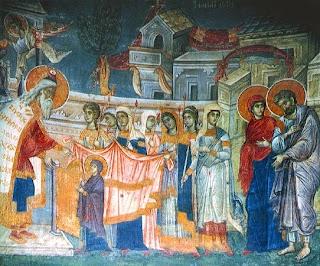 Τοιχογραφία 1318-1320 από το καθολικό της   Ιεράς Μονής Χιλιανδαρίου Αγίου Όρους