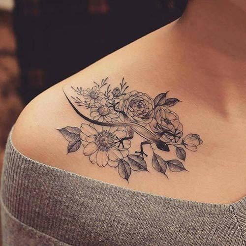 kadın omuz dövmeleri woman shoulder tattoos 16