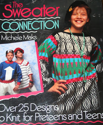 a knitting book from the 1980's