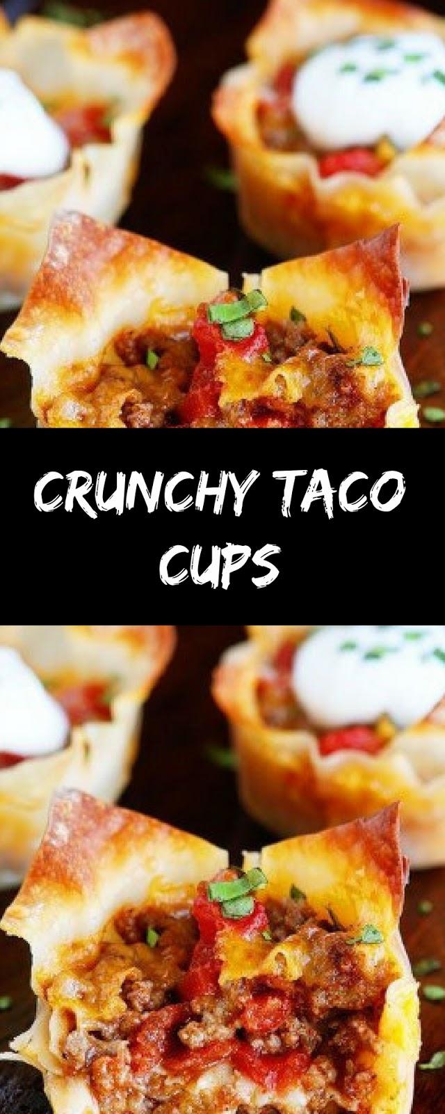 DELICIOUS CRUNCHY TACO CUPS