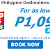 Cebu Pacific P1,099 All-In Promo Fare 2017
