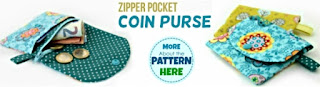 DIY Coin Purse. Get your PDF pattern here.