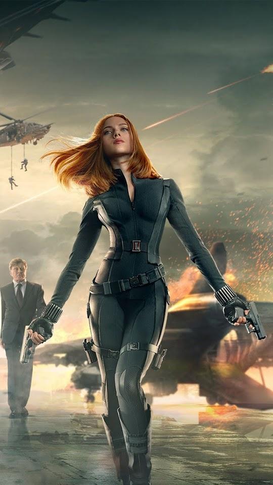 Captain America 2 Black Widow   Galaxy Note HD Wallpaper