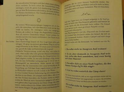 Seite mit unterschiedlicher Typografie