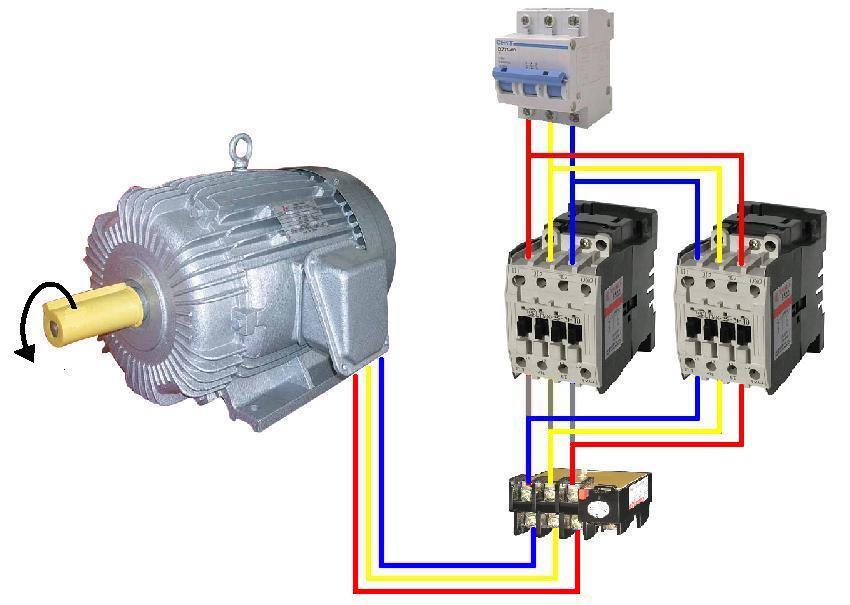 Wiring Diagram Motor Bolak Balik  Forward Reverse Three