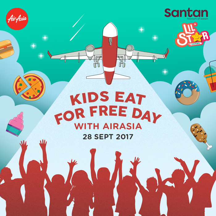 Kids eat for free on all AirAsia flights on September 28
