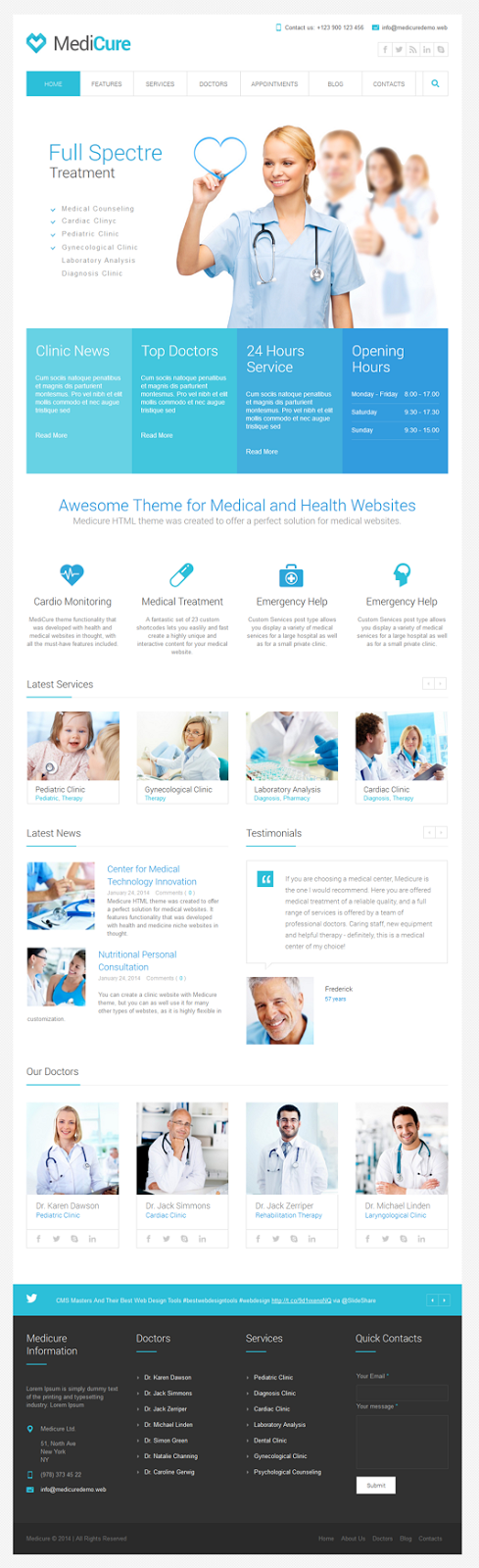 medical website theme