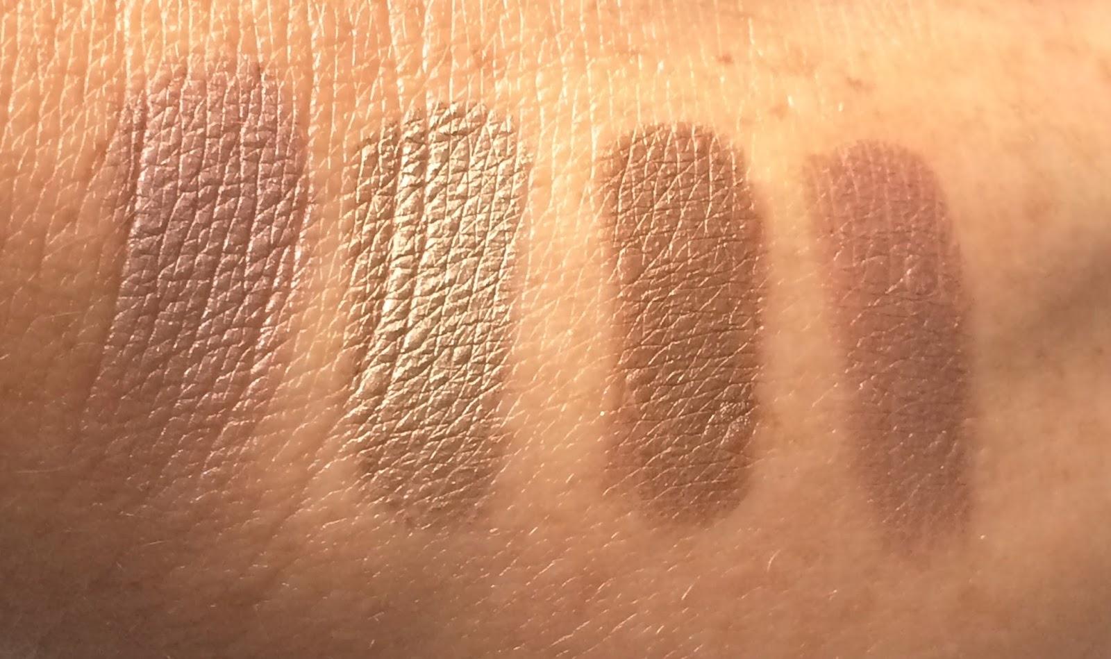 Anastasia Beverly Hills Single Eyeshadow Custom, Chiffon, Brownie, Chocolate Crumble swatches