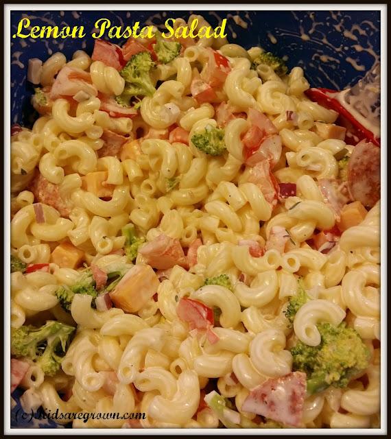 Lemon Pasta Salad- Gluten Free