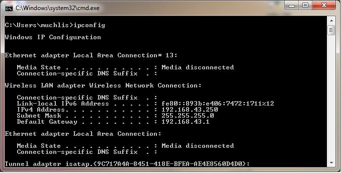 Perintah jaringan dasar pada Windows dan Linux - BeHangat.Net