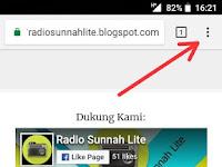 Cara Setting Aplikasi WebApp Radio Sunnah Lite