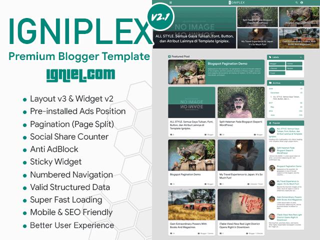 Igniplex – Premium Blogger Template