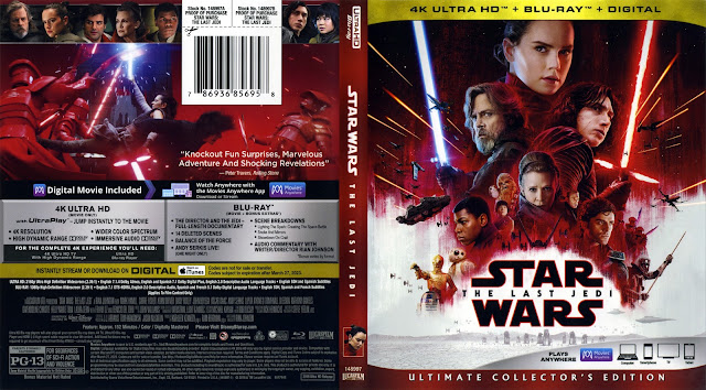 Star Wars: Episode VIII - The Last Jedi 4k Bluray Cover