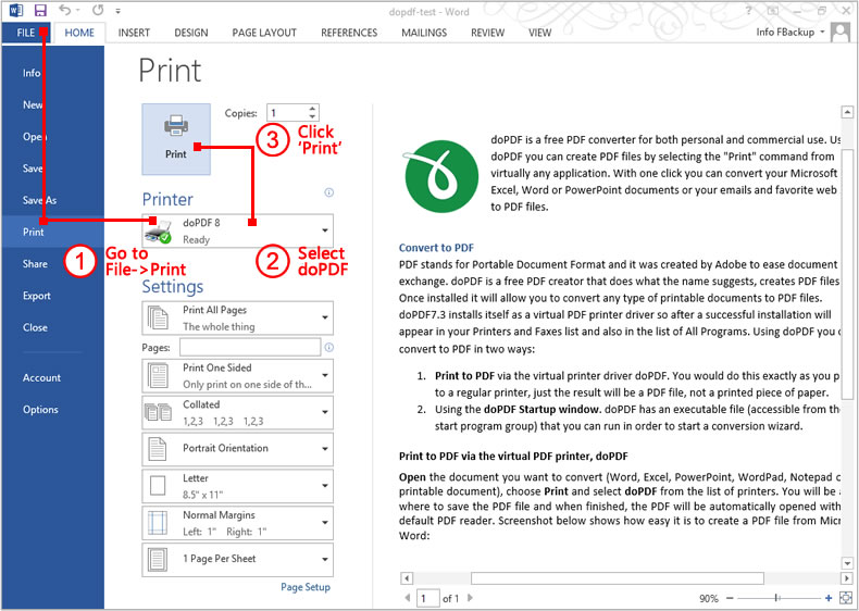 convert msword to pdf