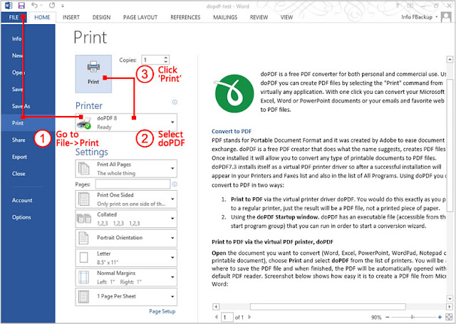 Cara Merubah Dokumen ms.Word ke PDF Menggunakan Software Gratis FREE