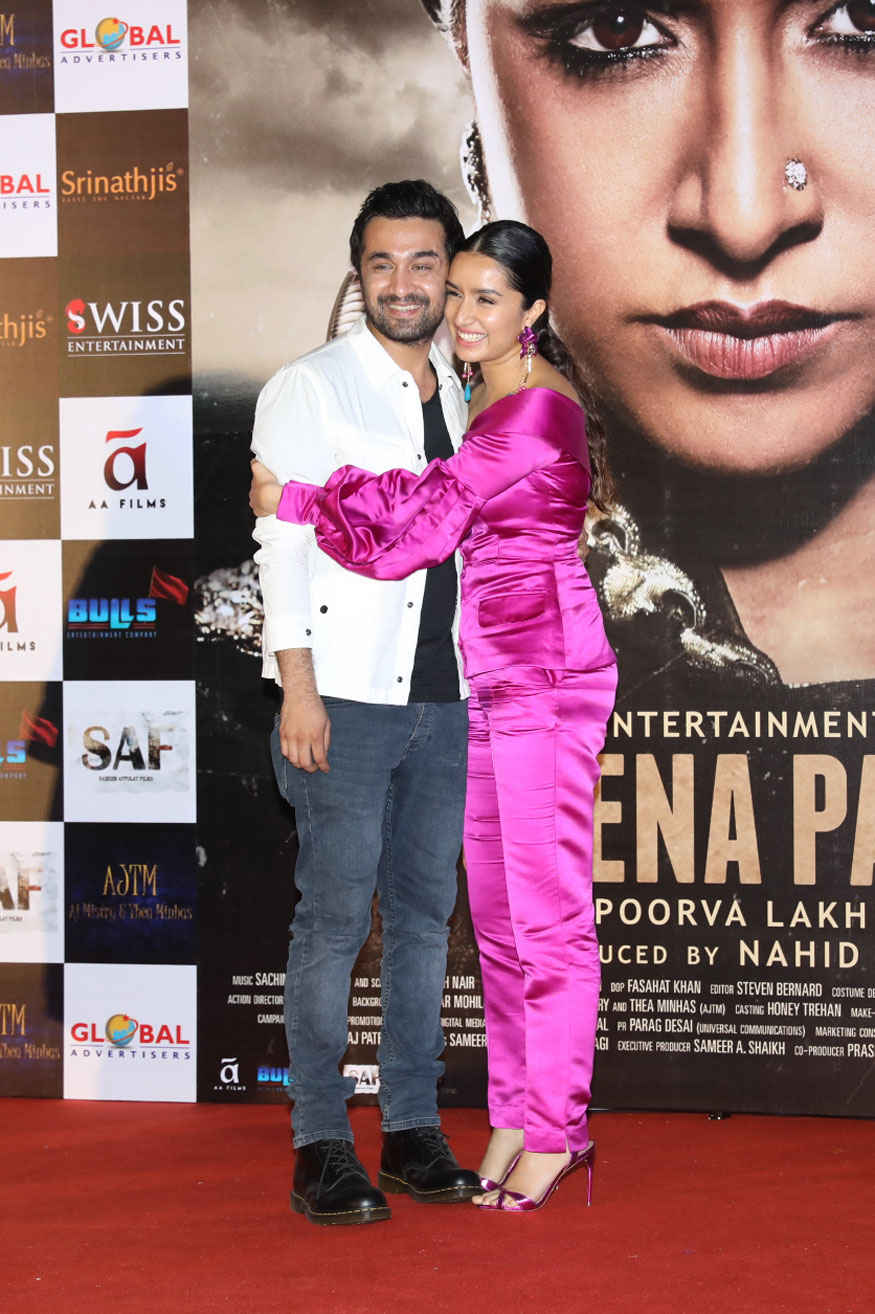 Shraddha Kapoor and Siddhanth at Trailer Launch of 'Haseena Parkar' at Maratha Mandir