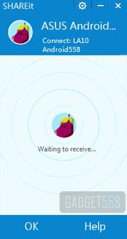 Mengirim file dari laptop ke smartphone