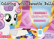 Coloring Sweetie Belle