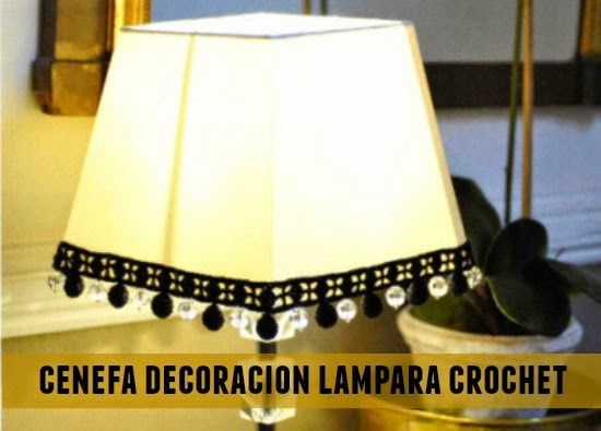 Cenefa crochet decoracion lampara