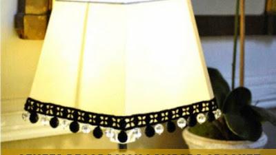 Cenefa crochet decoracion lampara