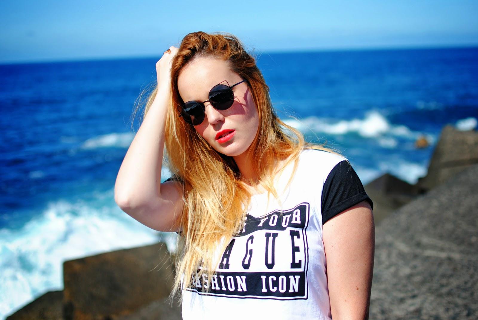 nery hdez, primark, slogan t-shirt, blonde, boyfriend jeans, zerouv
