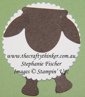 #thecraftythinker #stampinup  #punchartsheep #nzcard #cardmaking #punchart, Punch Art Sheep, NZ card, Stampin' Up Australia Demonstrator, Stephanie Fischer, Sydney NSW