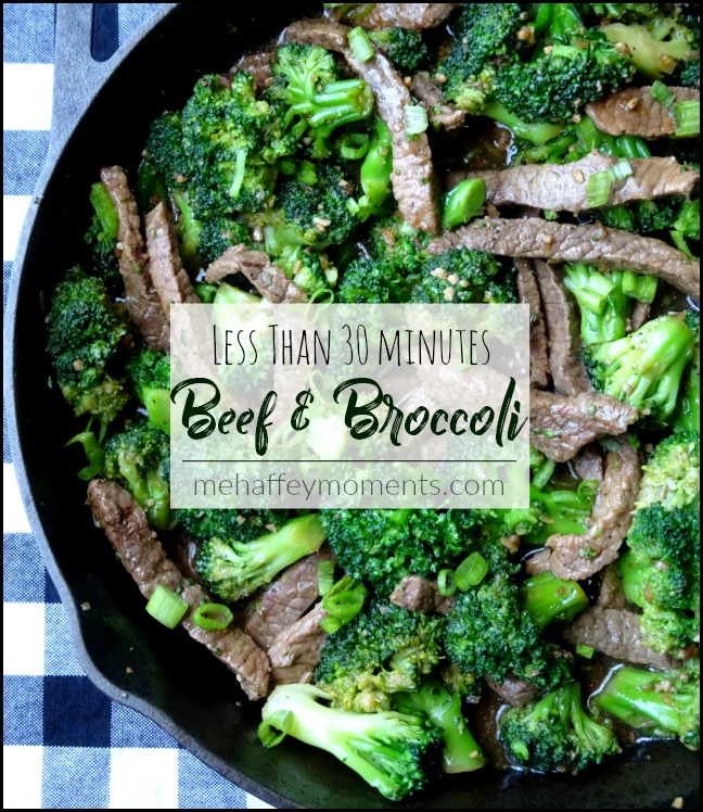 less than 30 minute beef & broccoli