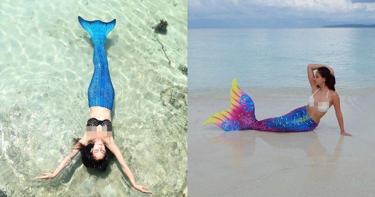 Gaya 5 seleb cantik berenang pakai kostum putri duyung, seksi abis