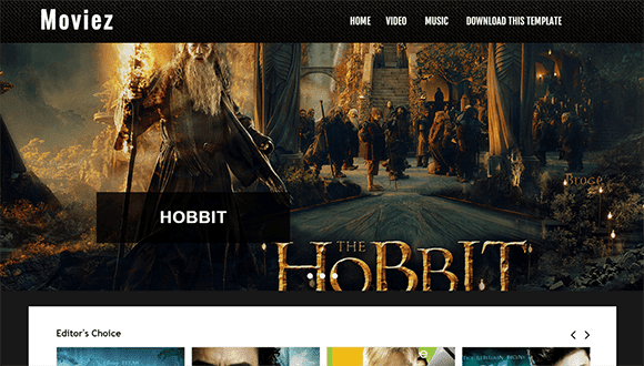 moviez blogger template
