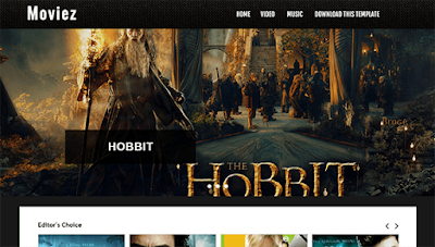 Moviez - Blogger template image