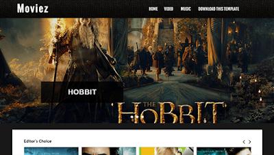 Moviez - Blogger template image