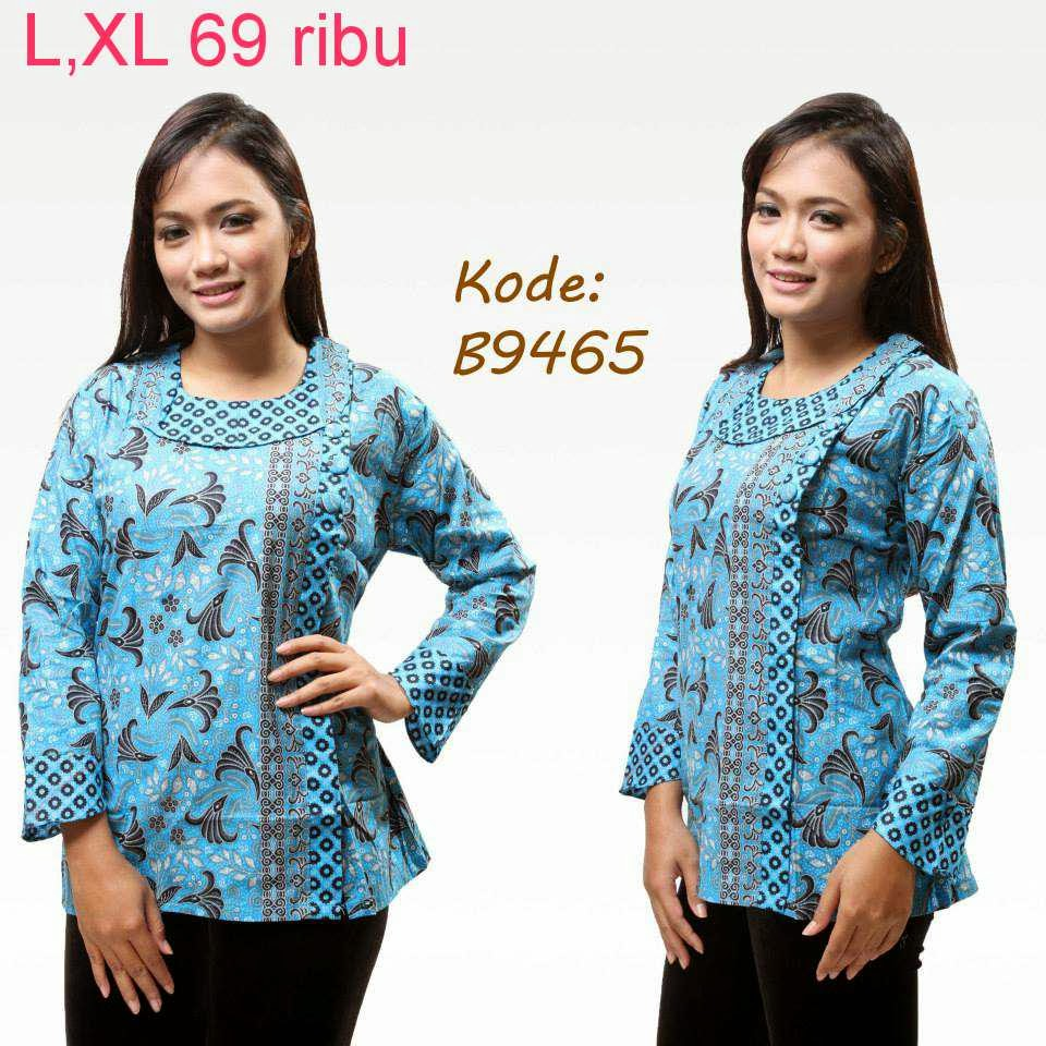 Trend Batik Kerja 2014: Kumpulan Model Baju Batik Wanita