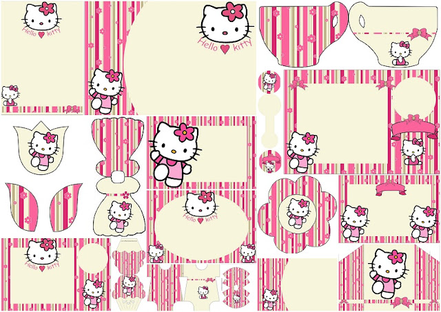 hello kitty photo booth template