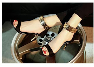 2016 hot sexy womens mid high heel toe stiletto sandals ankle strap court shoes £7.66