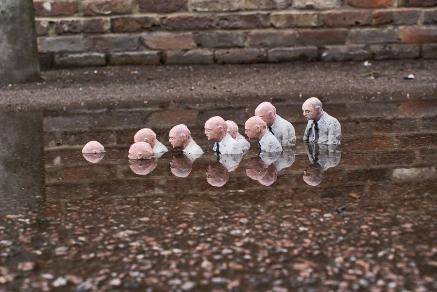 Risultati immagini per isaac cordal waiting for climate change