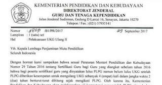 Jadwal Pelaksanaan UTN (UKG) Ulang 2 Tahun 2017