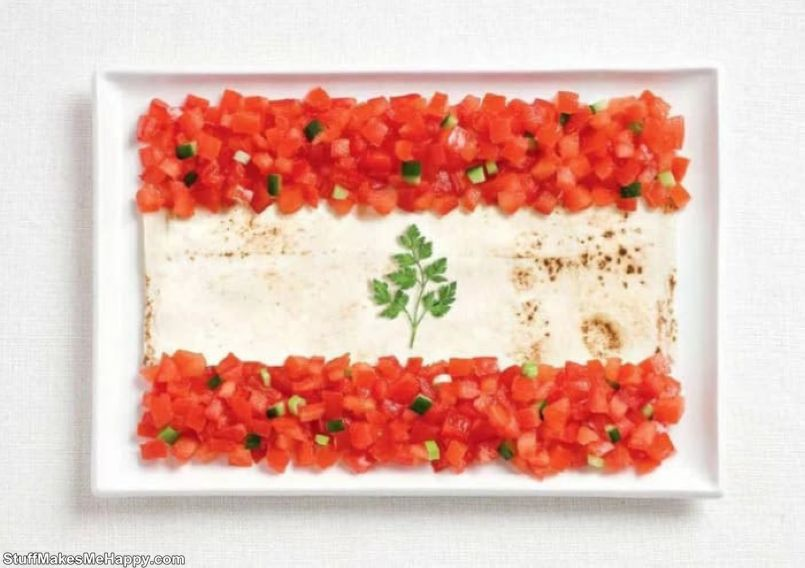 6. Lebanon - lavash, fattush, parsley