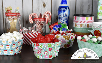 "Hot Cocoa Bar Party by @WendySue with the ""Milk & Cookies"" collection by @DoodlebugDesign"