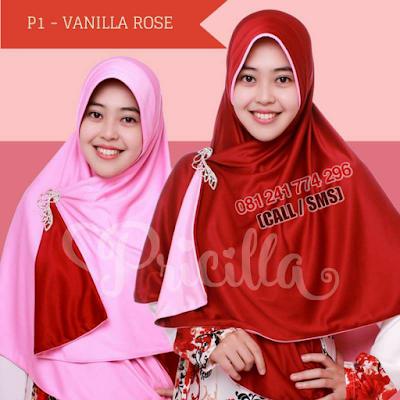 JILBAB Bolak Balik Atau Timbal Balik Original P1 - VANILLA ROSE