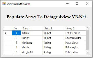 Result Populate Array To Datagridview VB.Net