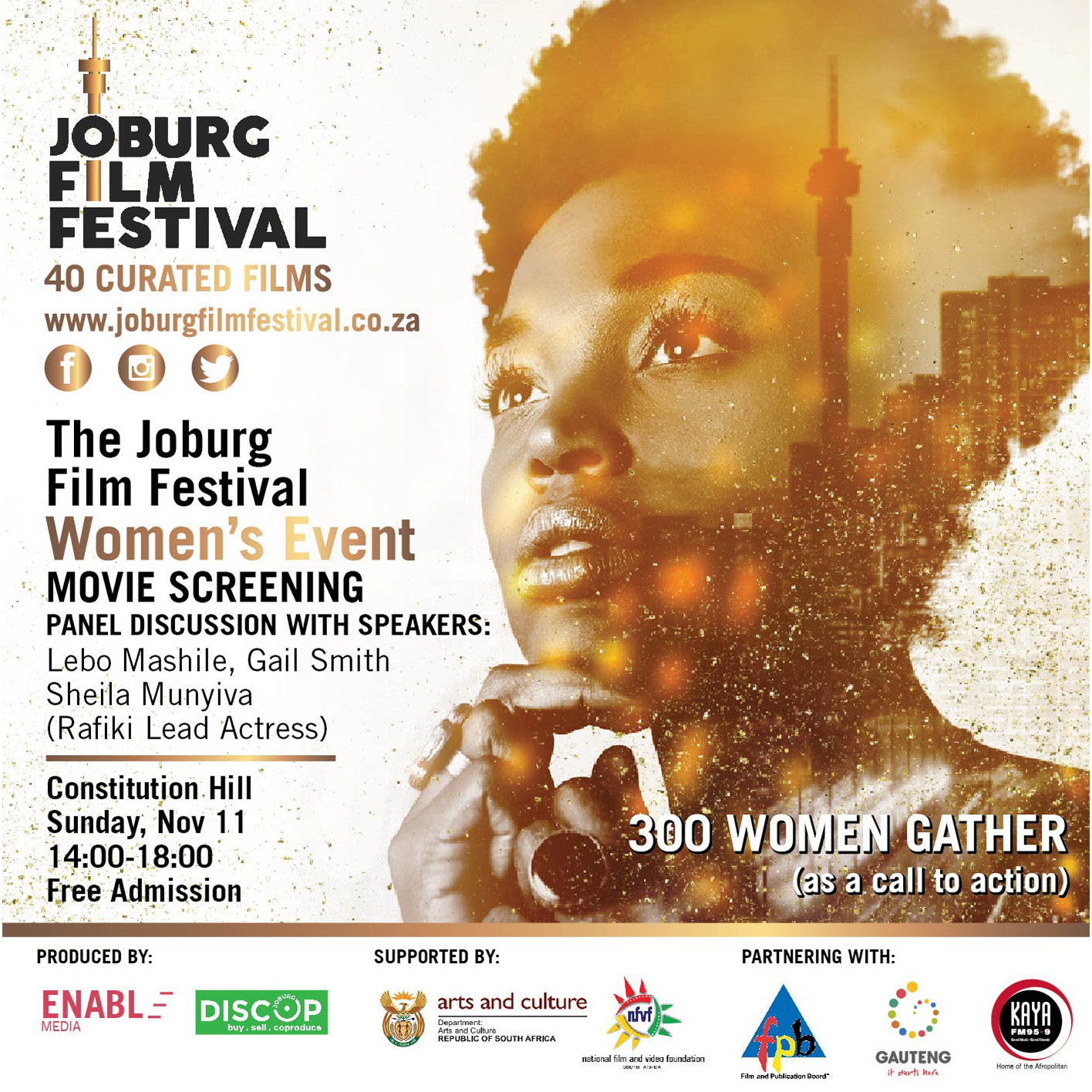Three Hundred Women Gather To Talk Gender Disparity At The Joburg Film Festival