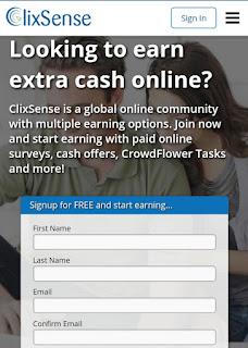tampilan%2Bclixsense%2Bseluler Tampilan baru dari ClixSense situs penghasil uang terbaik