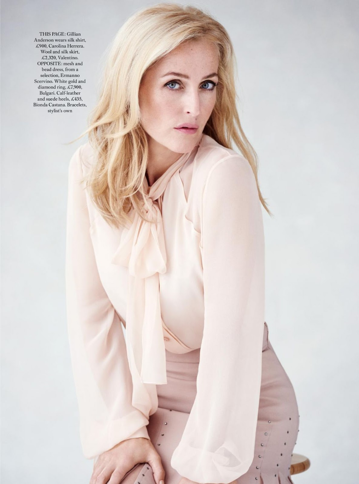 Gillian Anderson HQ Photoshoot for Harper's Bazaar Magazine UK October 2016 Issue