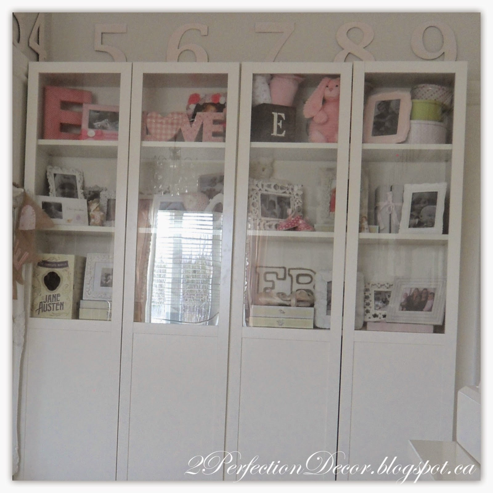 2Perfection Decor Adding Ikea Billy Bookcases to flank a Window – Billy Bookcase with Glass Door
