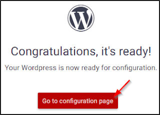 Go to Configuration page
