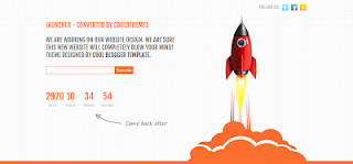 Launcher is a premium blogger template for blogs under construction next release, etc.