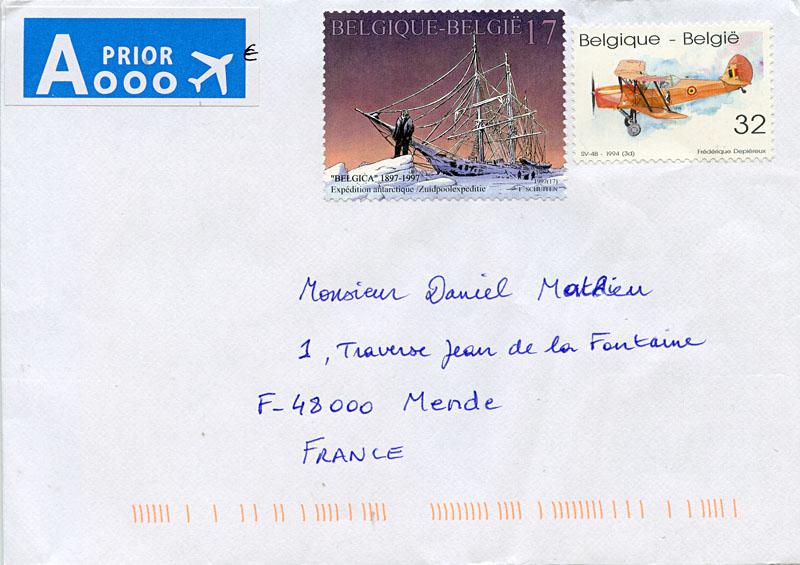 lettre belgique La Boîte aux Lettres du Monde: Lettre de Belgique lettre belgique