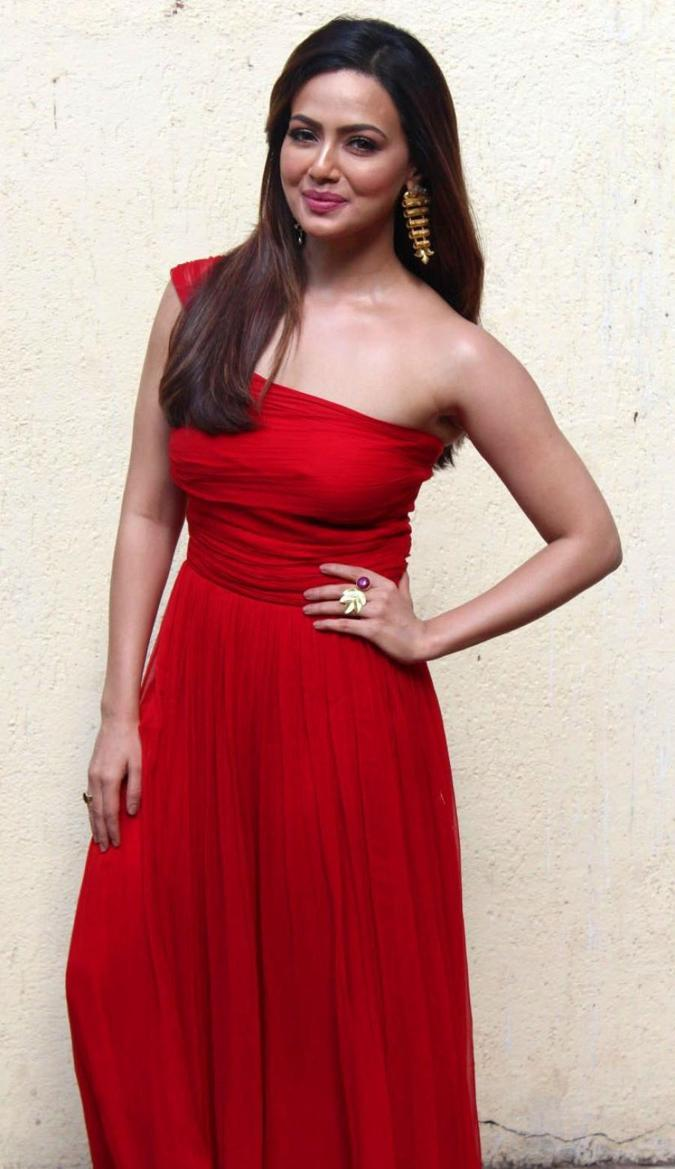 Beautiful Marathi Girl Sana Khan Photos In Red Dress